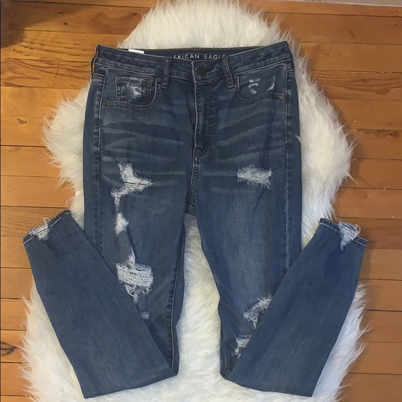 American Eagle Outfitters Pants - American Eagle super stretch destroyed jegging